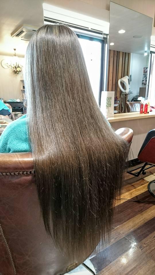 ハイパーロング毛×ブリーチ毛にも縮毛矯正ができます