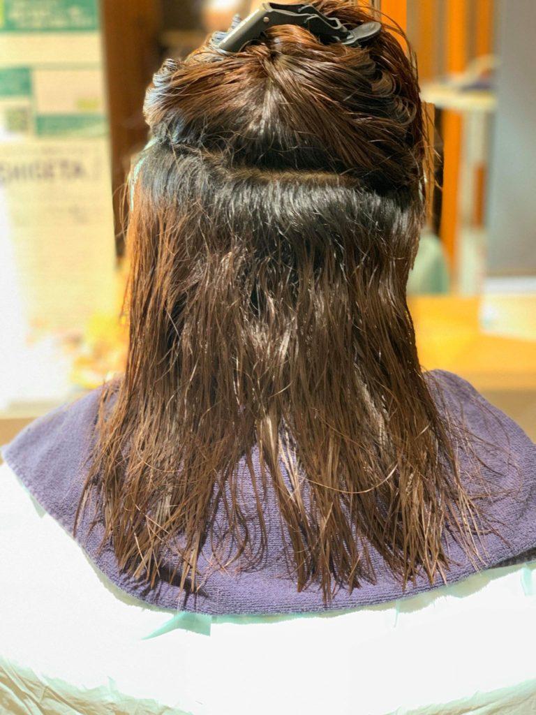 【津市・縮毛矯正・ストレート】4ヶ月リピーターのお客様にヒト幹細胞縮毛矯正を施術しました【三重県・美容院・美容室】