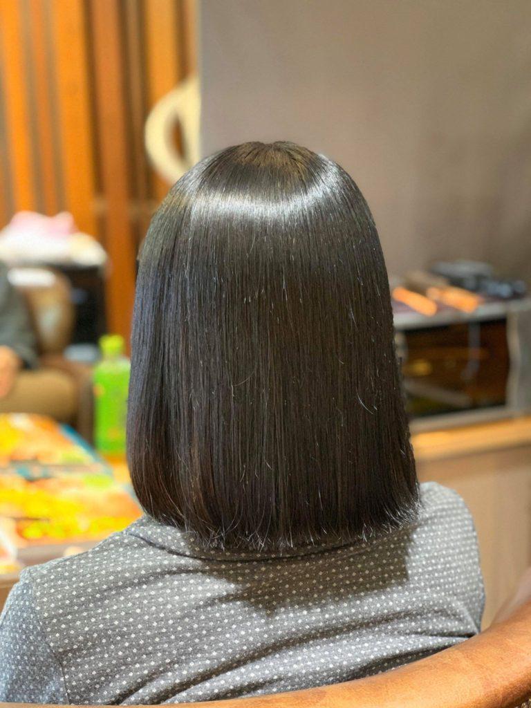 【津市・縮毛矯正・ストレート】10ヶ月ぶりのヴァージン毛にヒト幹細胞縮毛矯正を施術しました【三重県・美容院・美容室】